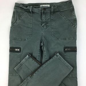 Madewell Ankle Zip Cropped Skinny Cargos 25 (1188)
